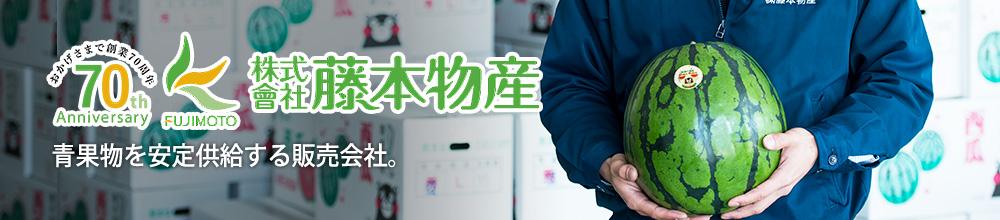 藤本物産FUJIMOTO BUSSAN 青果物を安定供給する販売会社。